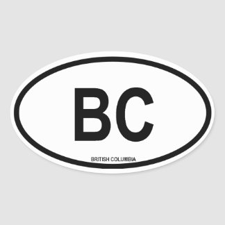 "British Columbia ""BC"" Oval Sticker"