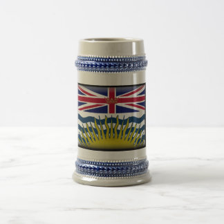 British Columbia (Canada) Flag Beer Stein