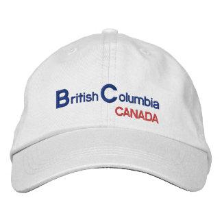 British* Columbia Canada Hat Embroidered Hats