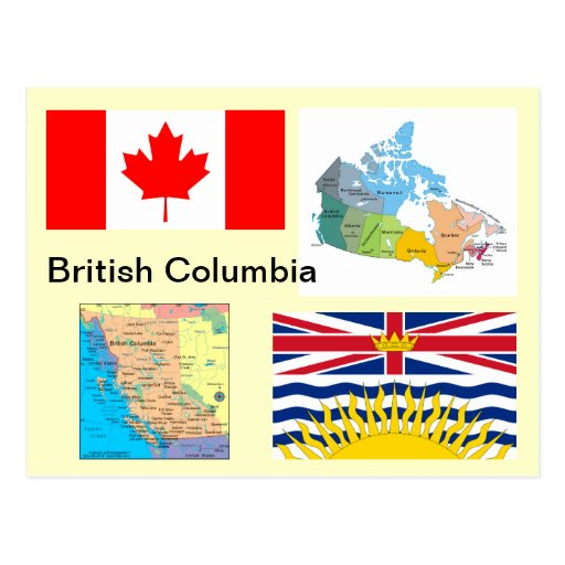 British Columbia Canada Post Card