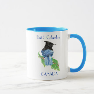 British Columbia Canada Stellar Jay, Bird, Nature Mug