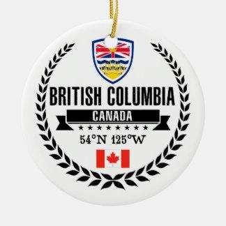 British Columbia Ceramic Ornament