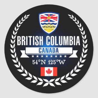 British Columbia Classic Round Sticker