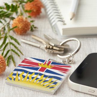 British Columbia Double-Sided Square Acrylic Keychain