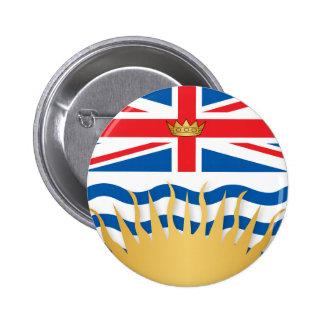 British Columbia flag 2 Inch Round Button