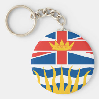 BRITISH COLUMBIA Flag Basic Round Button Keychain