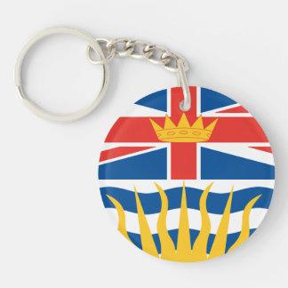 BRITISH COLUMBIA Flag Double-Sided Round Acrylic Keychain