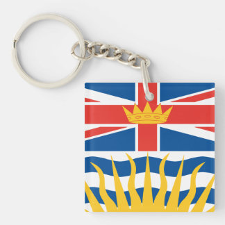 BRITISH COLUMBIA Flag Double-Sided Square Acrylic Keychain