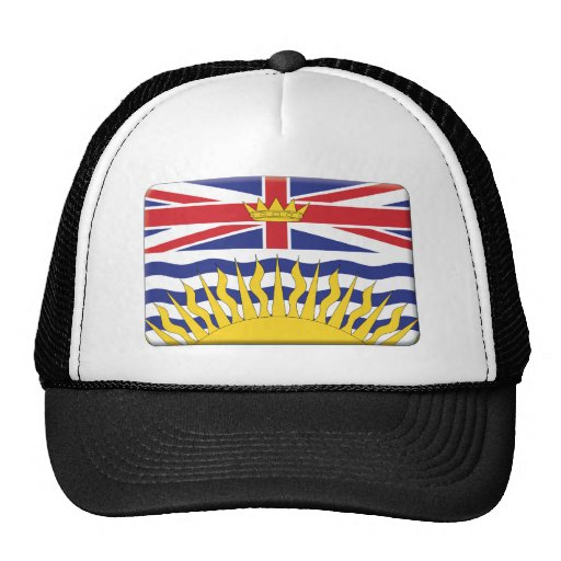 British Columbia Flag PERSONALIZE Trucker Hats