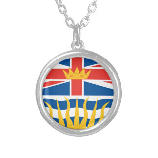BRITISH COLUMBIA Flag Silver Plated Necklace