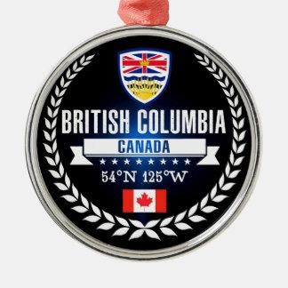 British Columbia Metal Ornament