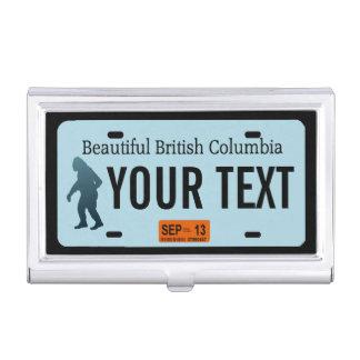 British Columbia Sasquatch License Plate Business Card Holder