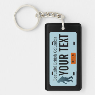 British Columbia Sasquatch License Plate Single-Sided Rectangular Acrylic Keychain
