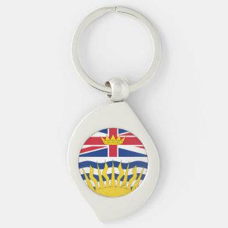 British Columbia Silver-Colored Swirl Keychain