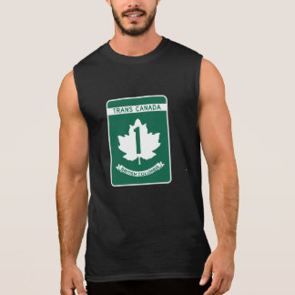 British Columbia, Trans-Canada Highway Sign Sleeveless Shirt