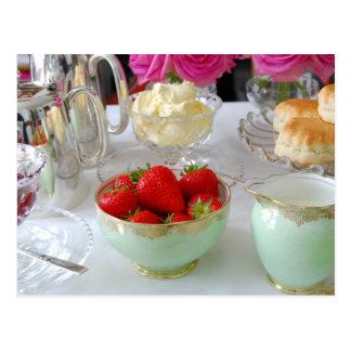 British Cream Tea Postcard