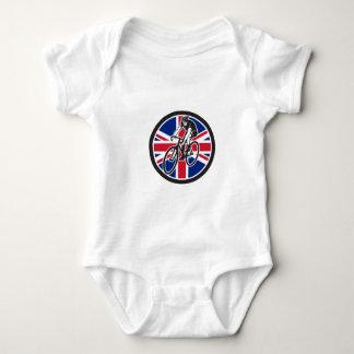British Cyclist Cycling Union Jack Flag Icon Baby Bodysuit