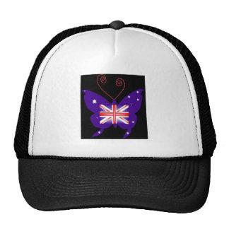 British Diva Butterfly Trucker Hat