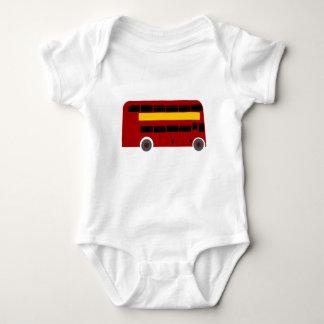 British Double-Decker Bus Baby Bodysuit