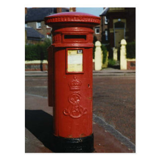 British Edward VII Pillar Box Postcard