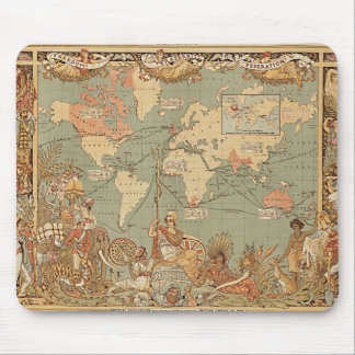 British Empire Vintage Victorian Map Mouse Pad