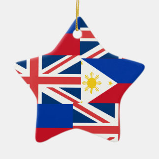 BRITISH-FILIPINO CERAMIC STAR ORNAMENT