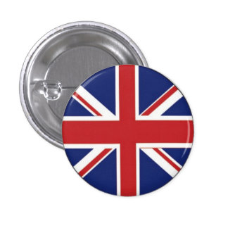British Flag 1 Inch Round Button