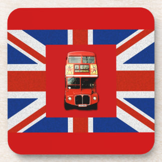 British Flag and London Bus Drink Coasters