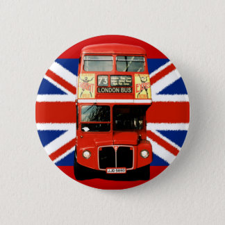 British Flag and London Bus Pin