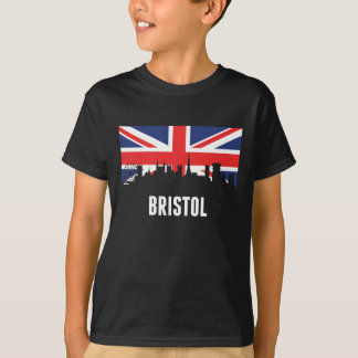British Flag Bristol Skyline T-Shirt