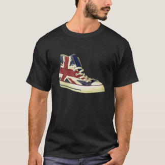 british flag designer shoe high top trainer