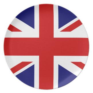 British flag dinner plates   Union Jack design