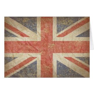 British Flag Distressed Card