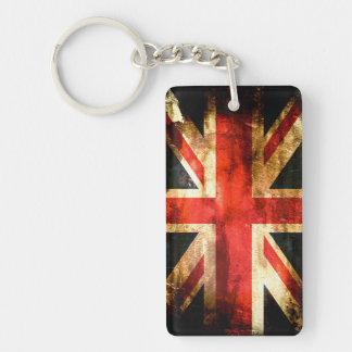 British flag Double-Sided rectangular acrylic keychain