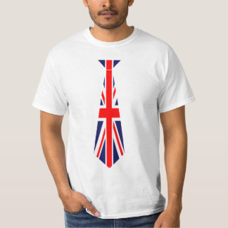 British Flag Fake Tie T-Shirt
