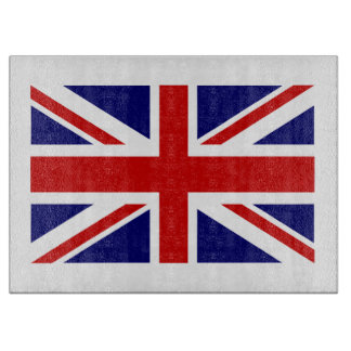British flag glass cutting board | Union Jack icon