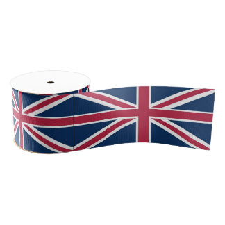 British flag grosgrain ribbon