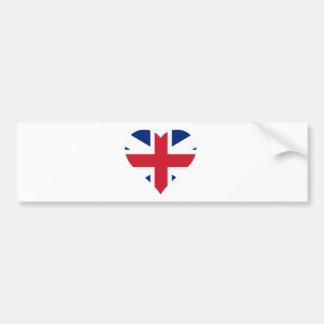 British Flag Heart Bumper Sticker