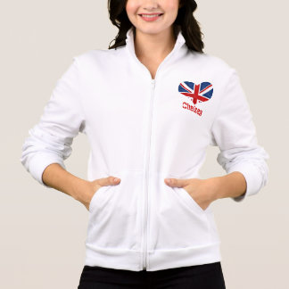 British Flag Heart Fleece Zip Jacket