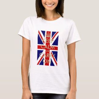 British Flag Keep Calm t shirt for women