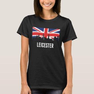 British Flag Leicester Skyline T-Shirt