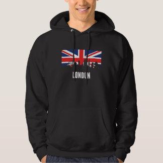 British Flag London Skyline Hoodie