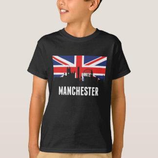 British Flag Manchester Skyline T-Shirt