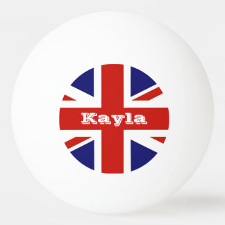 British Flag Personalized Ping Pong Ball