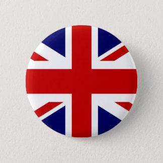 British flag pinback button   Union Jack design