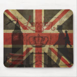 British Flag, Red Bus, Big Ben & Authors Mouse Pads