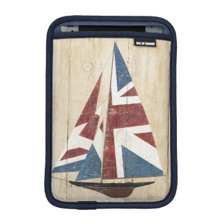 British Flag Sailboat iPad Mini Sleeve