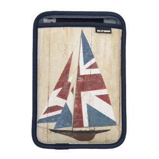 British Flag Sailboat iPad Mini Sleeves
