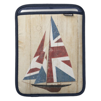 British Flag Sailboat iPad Sleeve