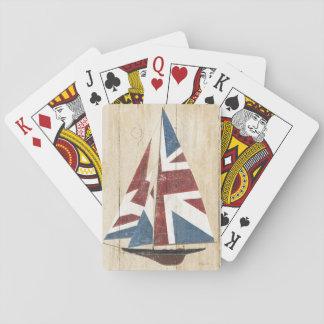 British Flag Sailboat Playing Cards